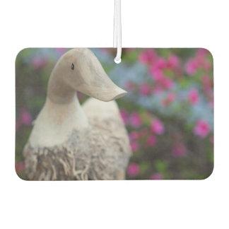Hölzerner Entenkopf mit Blumen Lufterfrischer