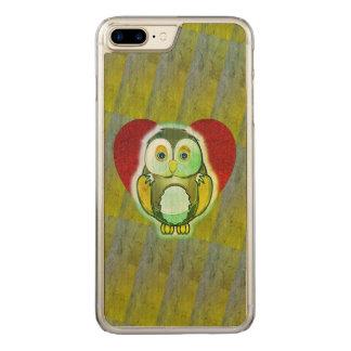 Hölzerner Fall - Eule für iPhone Carved iPhone 8 Plus/7 Plus Hülle