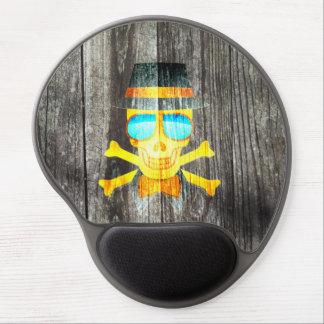 Hölzerner grauer Hintergrund des coolen Gel Mousepads