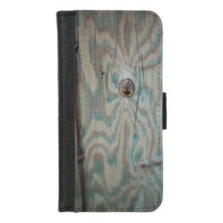 Hölzerner heller Pfosten Alaskas iPhone 8/7 Geldbeutel-Hülle