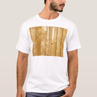 Hölzerner Schablonen-Geschenk-Palisadenzaun T-Shirt