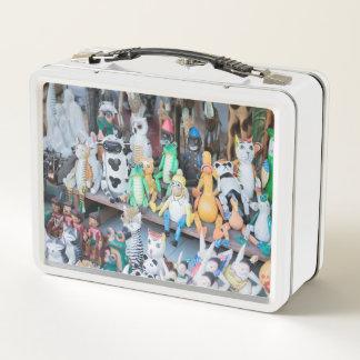 Hölzerner Spielzeug Bazar Metall Lunch Box