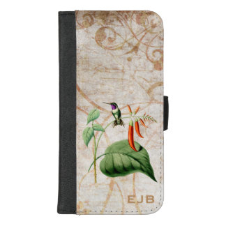 Hölzerner Stern-Kolibri iPhone 8/7 Plus Geldbeutel-Hülle