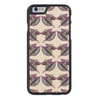 Hölzerner StoßiPhone SE/5/5S Fall - Blumen-Power Carved® iPhone 6 Hülle Ahorn
