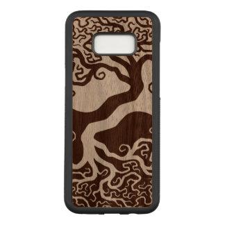 Hölzerner Yin Yang Baum Carved Samsung Galaxy S8+ Hülle