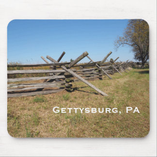 hölzerner Zaun in Gettysburg PA Mousepad