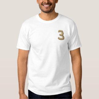 Hölzernes Alphabet 3 Besticktes T-Shirt