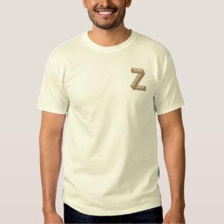 Hölzernes Alphabet Z Besticktes T-Shirt