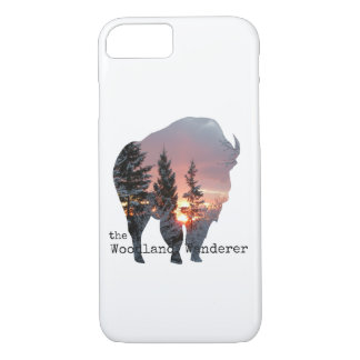 Hölzernes Bison-Büffel iPhone 7/8 iPhone 8/7 Hülle