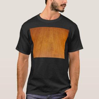 Hölzernes Bodenparquetry-Parkett-Laminat Brown T-Shirt