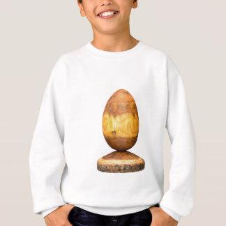 Hölzernes Ei gemacht vom Akazienbaum mit Barke Sweatshirt