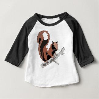 Hölzernes Eichhörnchen Baby T-shirt