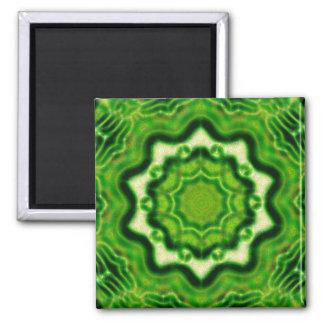 HÖLZERNES Element kaleido Muster Kühlschrankmagnet
