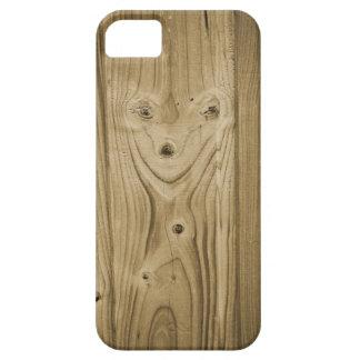 Hölzernes Gesicht iPhone 5 Cover