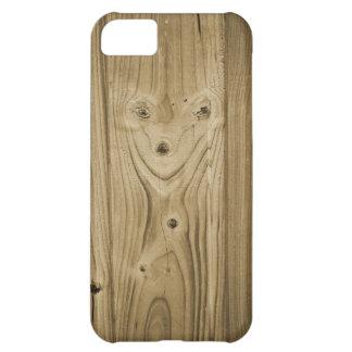 Hölzernes Gesicht iPhone 5C Hülle