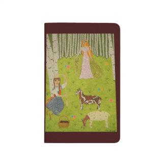 Hölzernes Mädchen Taschennotizbuch
