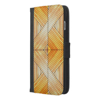 Hölzernes Muster iPhone 6/6s plus iPhone 6/6s Plus Geldbeutel Hülle