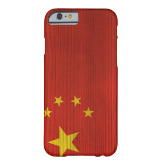 Hölzernes Muster mit gravierter China-Flagge Barely There iPhone 6 Hülle