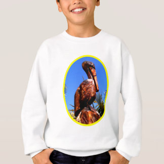 Hölzernes O Gelb des Pelikan-die MUSEUM Zazzle Sweatshirt