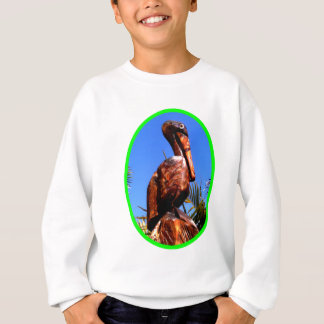 Hölzernes O Grün des Pelikan-die MUSEUM Zazzle Sweatshirt