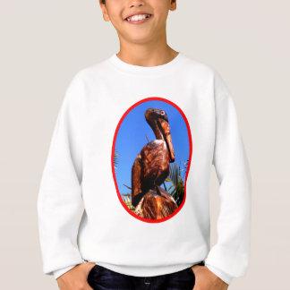 Hölzernes O Rot des Pelikan-die MUSEUM Zazzle Sweatshirt