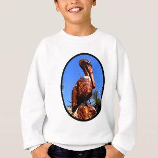Hölzernes O Schwarzes des Pelikan-die MUSEUM Sweatshirt