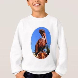 Hölzernes O Weiß des Pelikan-die MUSEUM Zazzle Sweatshirt