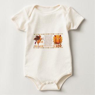 Hölzernes Pferd 1954 ValxArt Tierkreis-Löwen Yin Baby Strampler