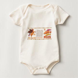 Hölzernes Pferd geborene Fische 1954 ValxArt Baby Strampler