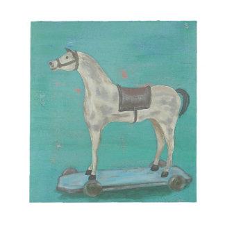 Hölzernes Pferd Notizblock