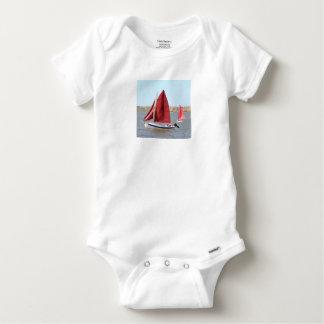 Hölzernes Segelboot Baby Strampler