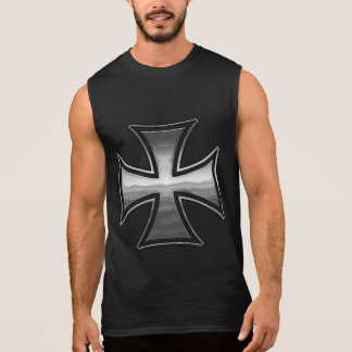 Hölzernes Stahlmaltesisches Ärmelloses Shirt