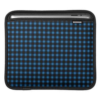 Holzfäller-Druck-blaues Schwarz-Winter-Büffel iPad Sleeve