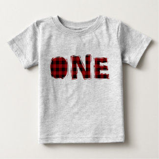 Holzfäller-erstes Geburtstags-T-Shirt Baby T-shirt