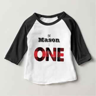Holzfäller-Flanell-Jungen-erstes Geburtstags-Shirt Baby T-shirt
