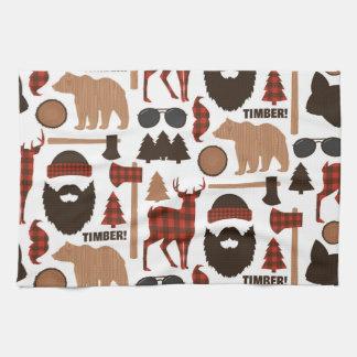 Holzfäller-Muster Handtuch