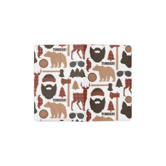 Holzfäller-Muster Moleskine Taschennotizbuch