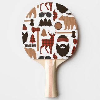 Holzfäller-Muster Tischtennis Schläger