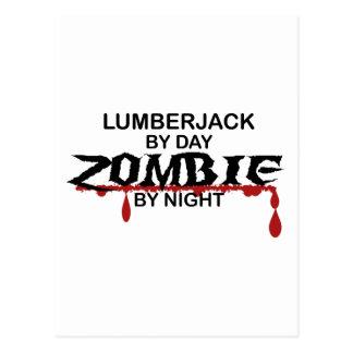 Holzfäller-Zombie Postkarte