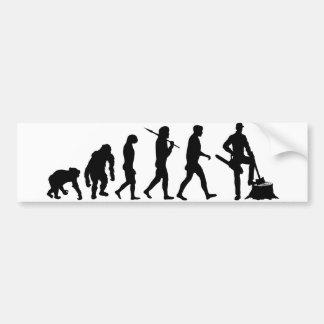 Holzfällerbaumholzfällerblockwinden Bunyan-Evoluti Autoaufkleber