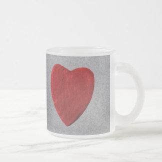Holzhintergrund mit Herz Mattglastasse