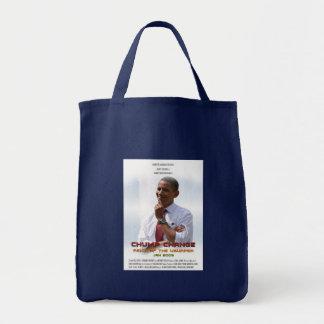 Holzklotz-Änderung (Obama) Einkaufstasche