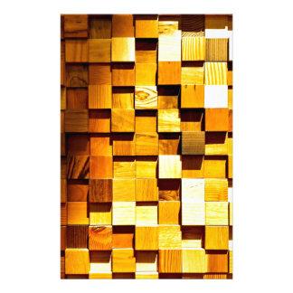 Holzklotz-Muster Büropapier