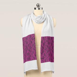 Holzkohle und dunkler rosa Spitze-Schal Schal