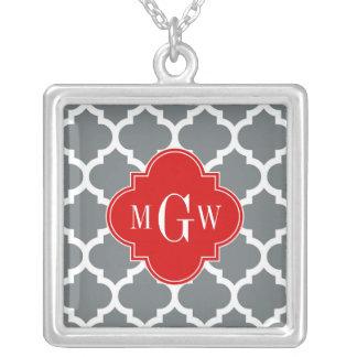 Holzkohle weiße Anfangsmonogramm des Personalisierte Halskette
