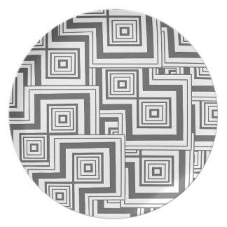 Holzkohlen-Puzzlespiel Teller