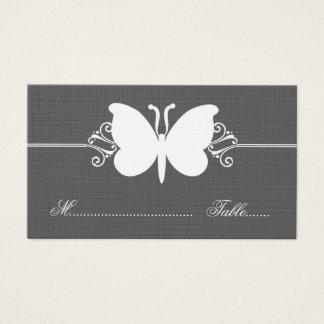 Holzkohlen-Schmetterlings-Wirbel, der Platzkarte Visitenkarte