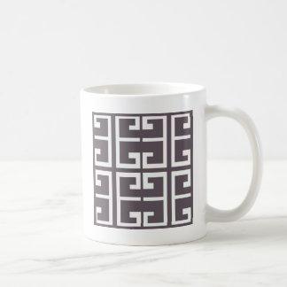 Holzkohlen-Spanisch-Fliese Kaffeetasse