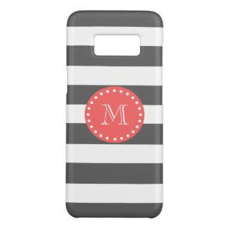 Holzkohlen-weißes Streifen-Muster, korallenrotes Case-Mate Samsung Galaxy S8 Hülle