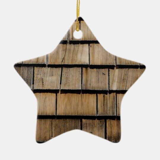 Holzschindel Keramik Ornament